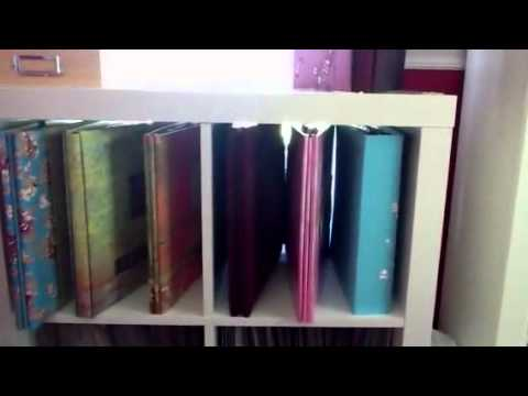 Scrapbook Albums And Layouts Storage Room Tour Youtube