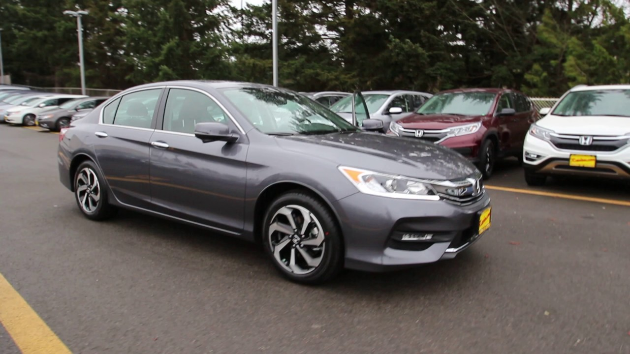 2016 Honda Accord Ex L W Navigation And Sensing Modern Steel Ga141679 Seattle On