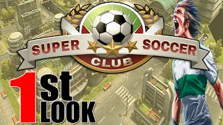 Super Soccer Club - Passion of Soccer just arrived to iOS (iPhone / iPad 1st Look)