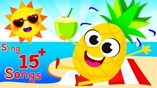SUMMER SING ALONG! ☀️ Pineapple, Rainbows, Animals, Chicken Dance 🌈 Happy Songs by Little Angel