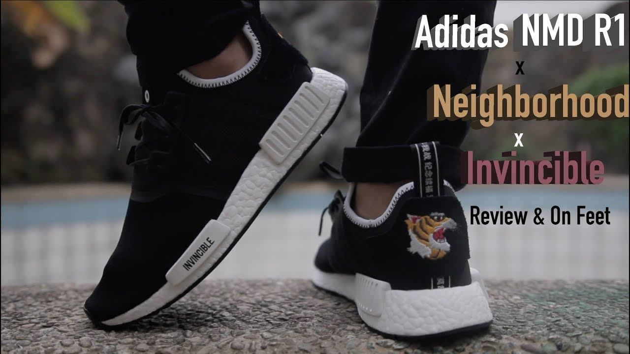 fc6f19dafc8b6 Adidas NMD R1 x Neighborhood x Invincible Review   On Feet - YouTube