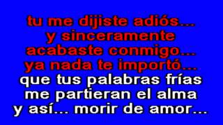 Karaoke - Conjunto Primavera Morir de amor.avi