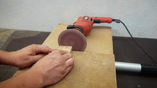 Homemade drill powered Disc Sander