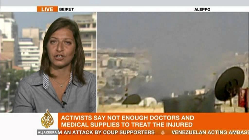 Al Jazeera S Zeina Khodr Reports On Syria Youtube