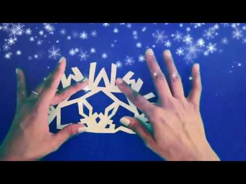 Snowflakes paper design & paper cutting pattern