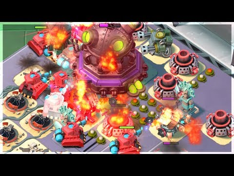 Boom Beach Fully Boosted Scorchers Taking on MEGA CRAB!!