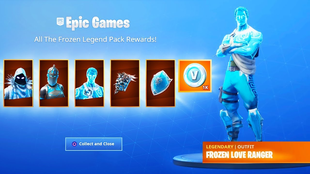 The New Frozen Legends Pack In Fortnite Youtube