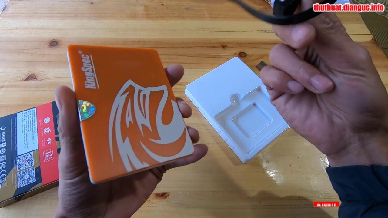 Mở hộp Ổ cứng SSD 120GB KingSpec