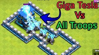 Max All Troops Vs Giga Tesla   Clash Of Clans Private Server