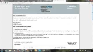 Como abrir una cuenta demo en OptionsXpress 2013