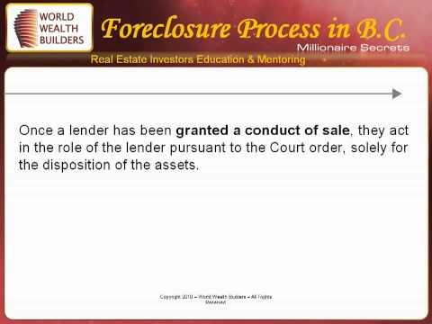 Foreclosure Process In British Columbia BC