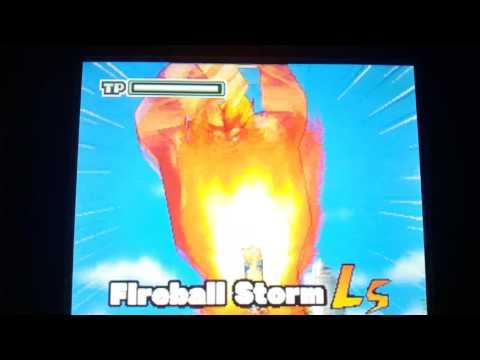 Inazuma eleven blizzard special move fireball storm