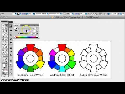 Josephine's Tutorial W2A1 Color Wheels in Illustrator