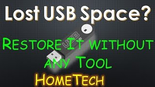 How to restore Lost space USB Drive to full capacity Without any Tool | Fix USB drive shows 0 bytes