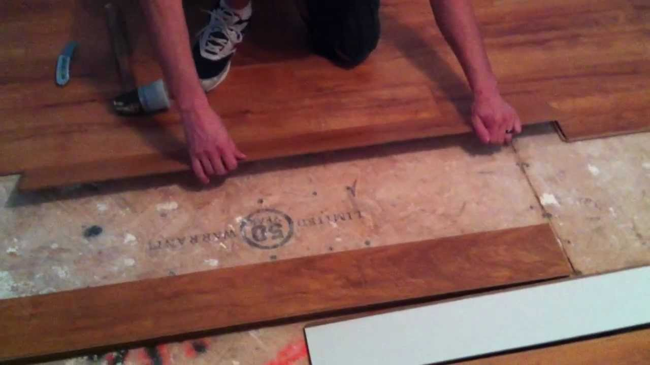 How To Install Laminate Flooring On Plywood Subfloor YouTube - Install vinyl flooring over plywood subfloor