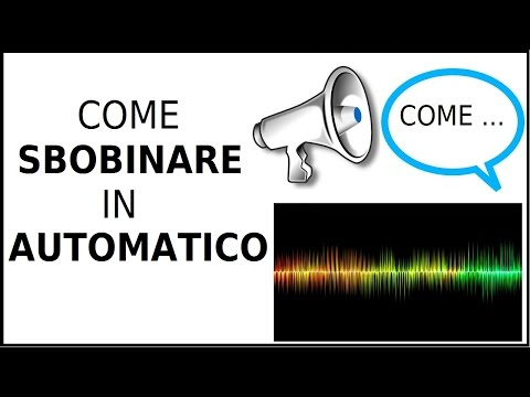 come sbobinare lezioni file audio automaticamente, trascrivere audio in maniera automatica
