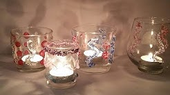 basteln mit Teelichtern, Glitzer, Glanz und Glemmer mit dem Heißkleber
