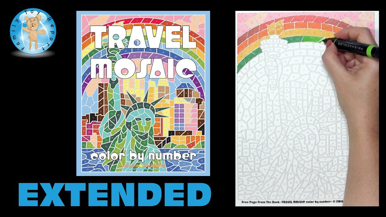 Travel Mosaic Color By Number Coloring Book Sunlife Drawing Extended Family Toy Report