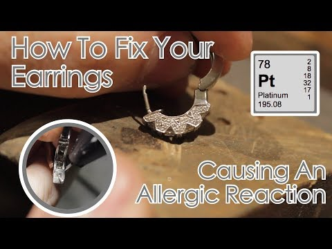 Replacing A Corroded Earring Post With Platinum – Fixing An Allergic Reaction