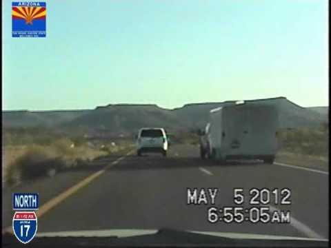 Phoenix AZ to Flagstaff AZ Time Lapse Drive.I-17 Northbound