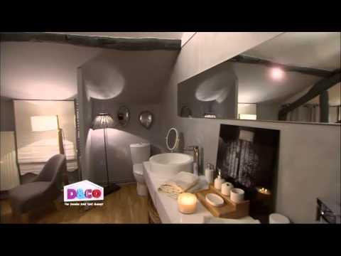 Baignoire îlot design Marielle et Meuble de salle de bain double vasques Veneto - Mobilierbain.com