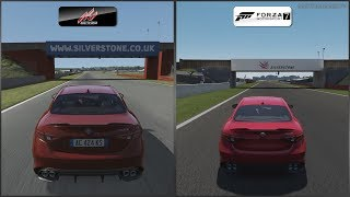 Assetto Corsa vs Forza 7 - Alfa Romeo Giulia Quadrifoglio at Silverstone International