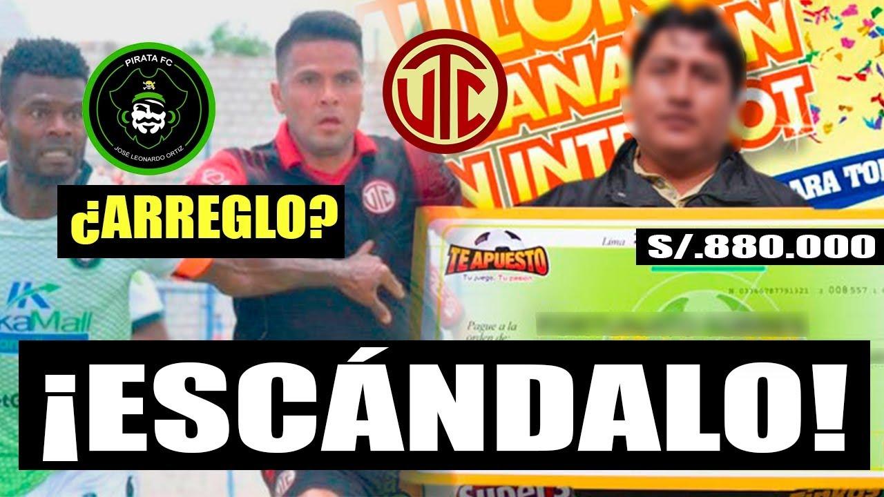 ¡APOSTADOR GANÓ CASI UN MILLÓN DE SOLES EN PIRATA FC VS UTC!