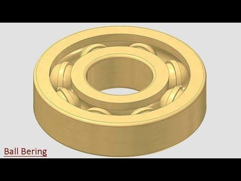 🔖 Ball Bearing || Autodesk Inventor Tutorial
