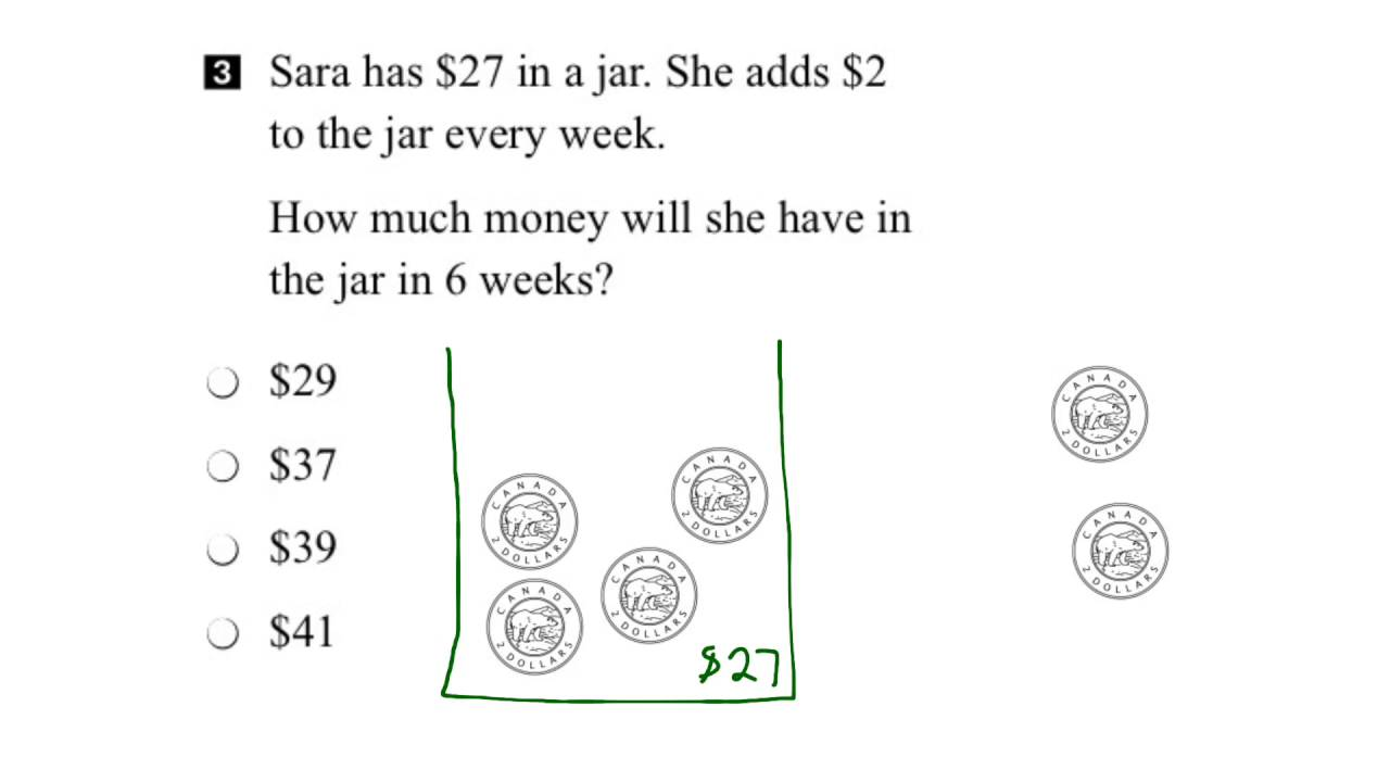 EQAO Grade 3 Math 2015 Question 3 Solution - YouTube