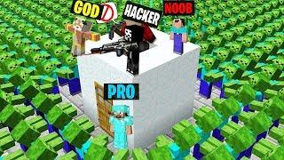 Minecraft Battle : NOOB vs PRO vs HACKER vs GOD : ZOMBIE APOCALYPSE vs SAFEST BASE in Minecraft !