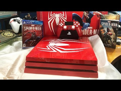 spider-man-amazing-red-playstation-4-pro-limited-edition-console-unboxing
