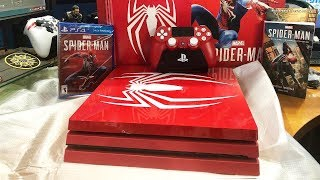 Spider-Man Amazing Red PlayStation 4 Pro Limited Edition Console Unboxing