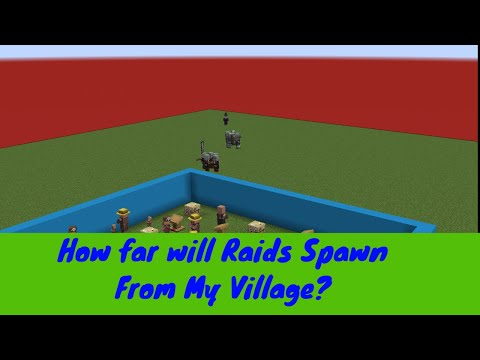 Minecraft Pillager Raid Spawning Distance From Villages