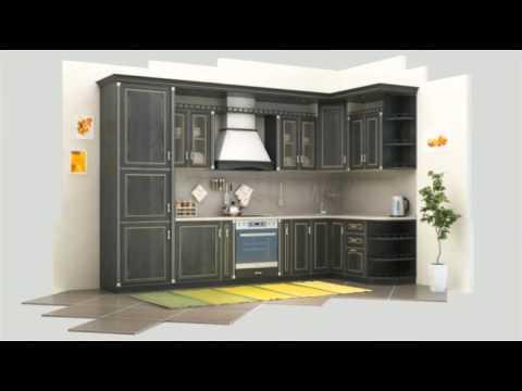 Кухня «Регина» (Дуб Шеффилд) - YouTube