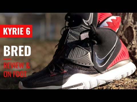 KYRIE 6 BRED DETAILED ON FOOT REVIEW IN 4K