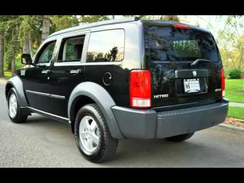 2007 dodge nitro sxt 4x4 120k black newer tires for. Black Bedroom Furniture Sets. Home Design Ideas