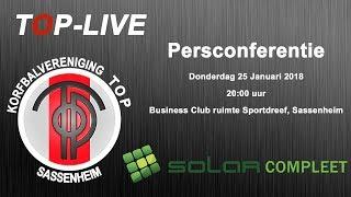 Persconferentie TOP/SolarCompleet, donderdag 25 januari 2018