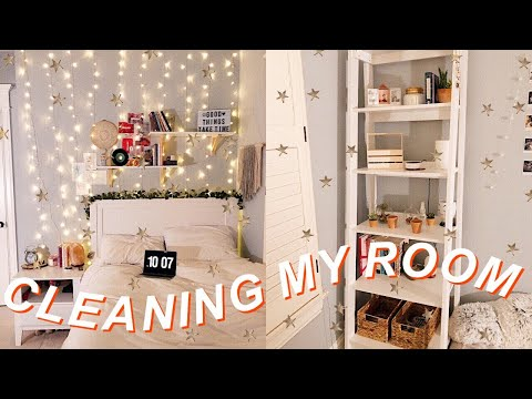 deep cleaning my room 2019 *satisfying* 🌛