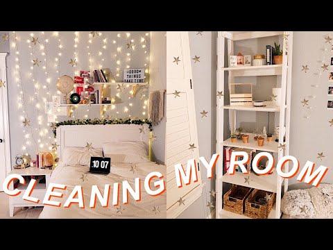 deep cleaning my room 2019 *satisfying* 🌛