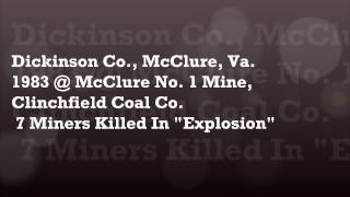 *Love and Remembrance Coal Miners.wmv Connie Helton