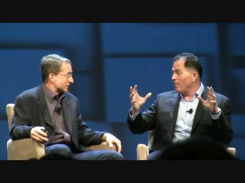 Pat Gelsinger and Michael Dell at VMworld, 2016