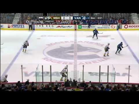 Nashville Predators vs Vancouver Canucks 19.03.2014
