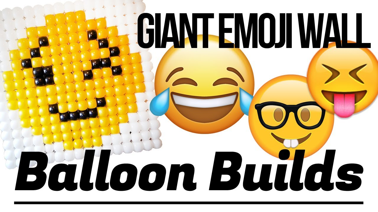 How it\'s built - Balloon Emoji Wall - YouTube