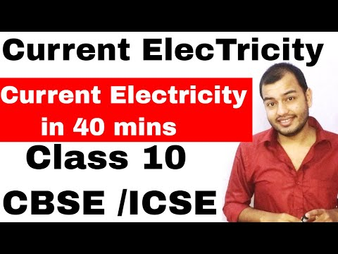 CuRReNT ELECTRICITY in 40 Mins - ICSE PHYSICS - Circuit Numericals + Terminal Voltage + EMF (HINDI)