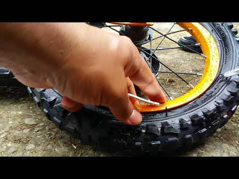Kids Bicycle Flat Tyre Repair.