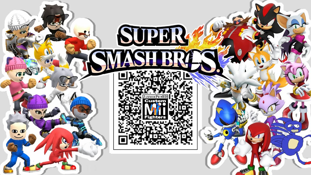 shadow eggman tails knuckles more mii fighter qr codes for