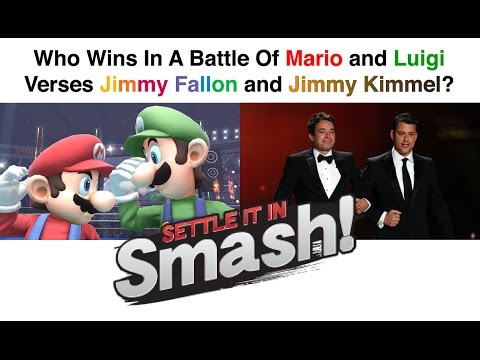 Who Wins In a Battle of Mario & Luigi Versus Jimmy Fallon & Jimmy Kimmel?