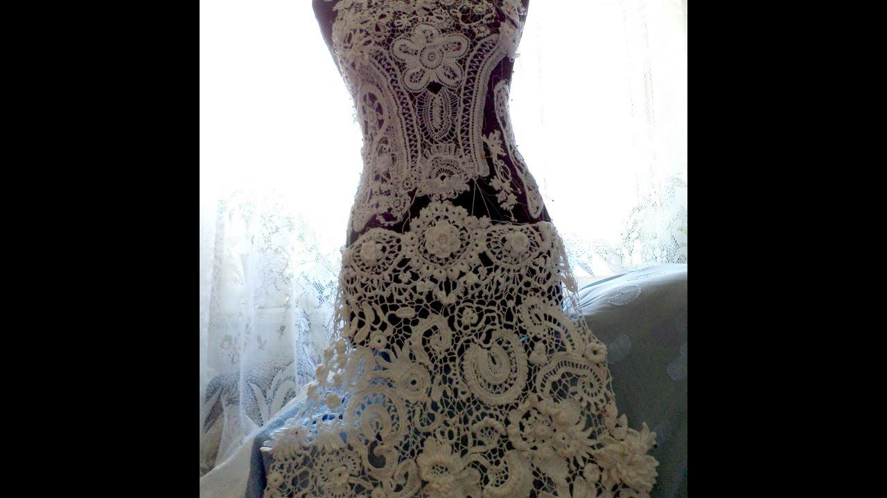 Wedding dress. Irish Lace . Veduta Irish Lace - YouTube