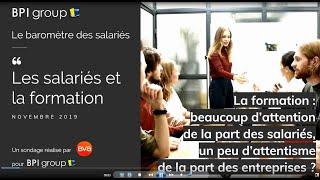 Baromètre des Salariés by BPI group Les salariés et la formation