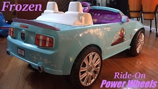 Disney Frozen Ford Mustang Ride-On Power Wheels Walk Around Video